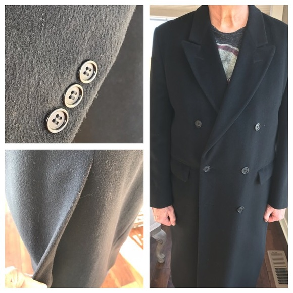 Elder Beerman Other - Black 100% Wool Topcoat
